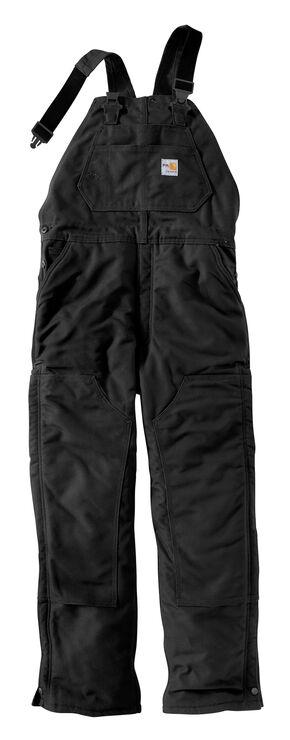 Carhartt Men's Flame-Resistant Duck Bib Overalls, Black, hi-res