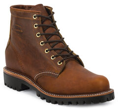 "Chippewa Men's Renegade Tan 6"" Lace-Up Boots - Round Toe, , hi-res"