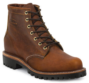 "Chippewa Men's Renegade Tan 6"" Lace-Up Boots - Round Toe, Tan, hi-res"