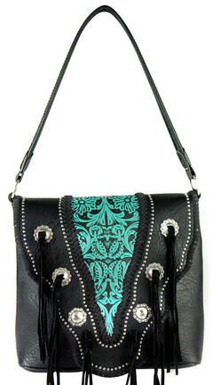 Montana West Trinity Ranch Vintage Tooling Pattern Concealed Handgun Collection Handbag, , hi-res
