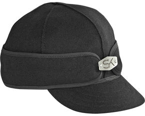 Stormy Kromer Men's Hardware Original Cap, Black, hi-res