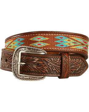 Ariat Men's Ribbon Inlay Belt, Multi, hi-res