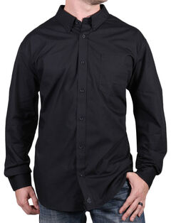 Cody James Core Men's Chute Black Long Sleeve Shirt, , hi-res