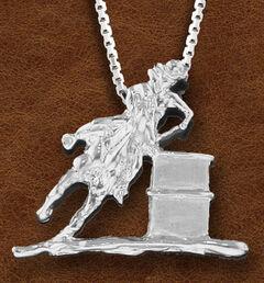 Kelly Herd Women's Sterling Silver Large Barrel Racer Necklace, , hi-res