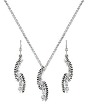 Montana Silversmiths Sparkling Pathway Jewelry Set , Silver, hi-res