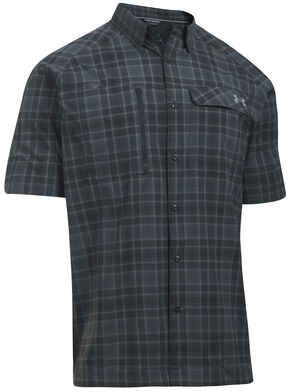 Under Armour Men's Charcoal Grey Fish Hunter Shirt, Charcoal Grey, hi-res