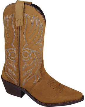 Smoky Mountain Women's Mojave Western Boots - Snip Toe , Brown, hi-res