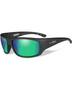 Wiley X Gravity Polarized Emerald Mirror Matte Black Sunglasses , , hi-res