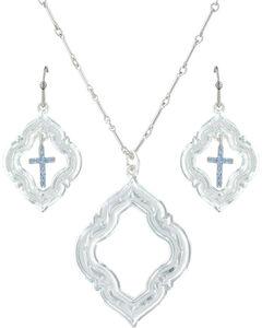 Montana Silversmiths Women's Looking Through To Faith Jewelry Set , , hi-res