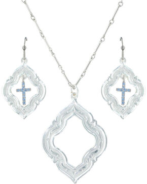 Montana Silversmiths Women's Looking Through To Faith Jewelry Set , Silver, hi-res