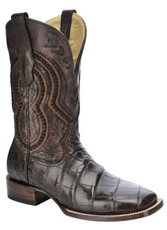 Corral Alligator Cowboy Boots - Wide Square Toe, , hi-res