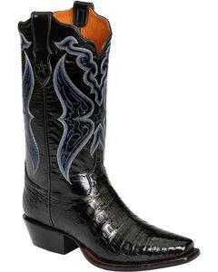 Tony Lama Signature Series Caiman Belly Cowboy Boots - Snip Toe, , hi-res