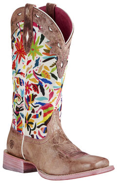 Ariat Pink Women's Performance Circuit Champion Boots - Wide Square Toe, , hi-res