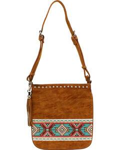 Blazin Roxx Shania Collection Aztec Ribbon Messenger Bag, , hi-res