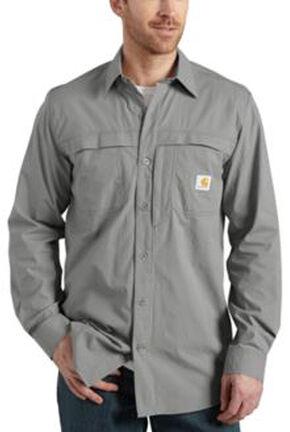 Carhartt Force Mandan Solid Long Sleeve Shirt, Grey, hi-res