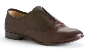 Frye Women's Jillian Slip On- Round Toe, Dark Brown, hi-res