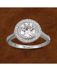 Kelly Herd Sterling Silver Pave' Bezel Set Ring, , hi-res
