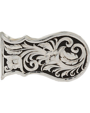 Montana Silversmiths Men's LeatherCut Scalloped Money Clip, Silver, hi-res