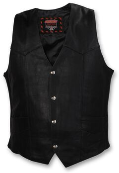 Interstate Leather Motorcycle Vest - Big & Tall, , hi-res