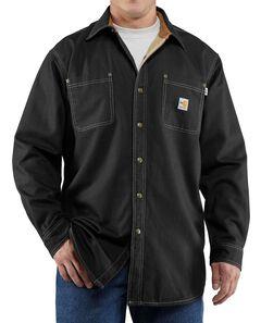 Carhartt Flame Resistant Canvas Shirt Jacket - Big & Tall, , hi-res