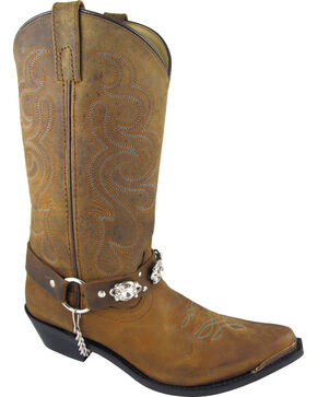 Smoky Mountain Arroyo Grande Cowgirl Boots - Snip Toe, Brown, hi-res