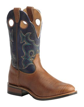 Boulet Super Roper Boot - Round Toe, Walnut, hi-res