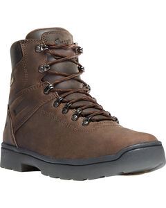 "Danner Men's Brown Ironsoft 6"" Boots - Soft Round Toe , , hi-res"