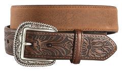 Ariat Distressed Hand Tooled Leather Belt, , hi-res