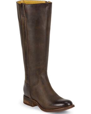 Justin Women's Tall Leather Riding Boots - Round Toe, Bay Apache, hi-res