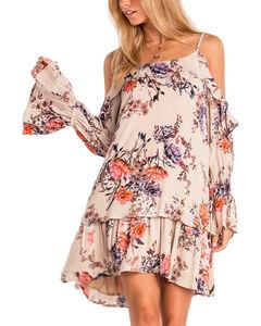 Miss Me Women's Wild Blossoms Peasant Dress , , hi-res