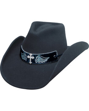 Bullhide State of Grace Black Hat, Black, hi-res
