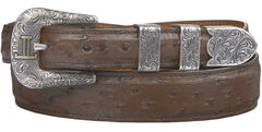 Lucchese Men's Sienna Full Quill Ostrich Leather Belt, , hi-res