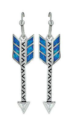 Montana Silversmiths Women's Sky Fletched Arrow Earrings , , hi-res