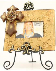 "Western Moments Cross Photo Frame with Easel - 5"" x 7"", Multi, hi-res"
