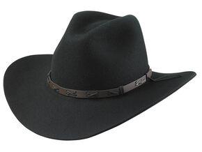Tony Lama Black 3X Wool Felt Cowboy Hat, Black, hi-res