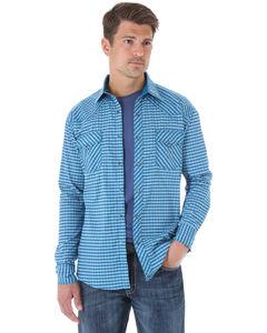 Wrangler 20X Turquoise Print Western Shirt , , hi-res