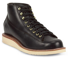 Chippewa Men's 1958 Black General Utility Boots - Round Toe, , hi-res