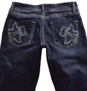 Tin Haul Women's Trixie Embossed Logo Skinny Jeans, Denim, hi-res
