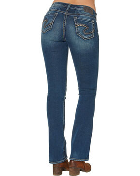 Silver Women's Suki Mid Boot Dark Wash Jeans , Blue, hi-res