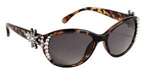 Blazin Roxx UV 400 Protection Rhinestone Studded Spur Rowel Tortoise Sunglasses, Brown, hi-res