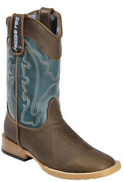 Double Barrel Boys' Open Range Cowboy Boots - Square Toe, , hi-res