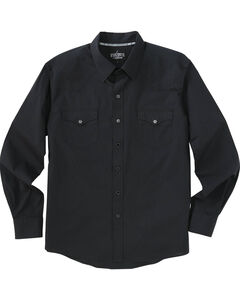 Garth Brooks Sevens by Cinch Black Jacquard Western Shirt , Black, hi-res