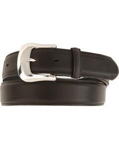 Tony Lama Longhorn Leather Dress Belt - Reg & Big, , hi-res