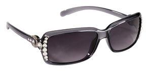 Blazin Roxx UV 400 Protection Rhinestone Studded Horseshoe Sunglasses, Black, hi-res