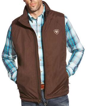Ariat Men's Team Vest, Brown, hi-res