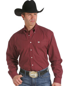 Cinch Men's Red Print Western Shirt , , hi-res