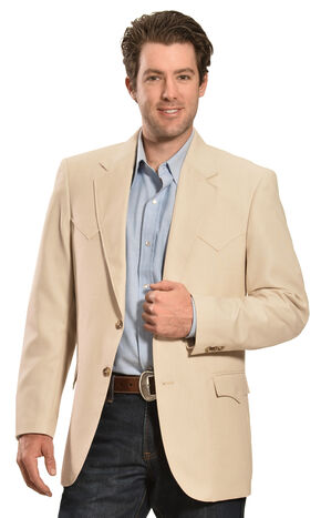 Circle S Men's Lubbock Sport Coat, Sand, hi-res
