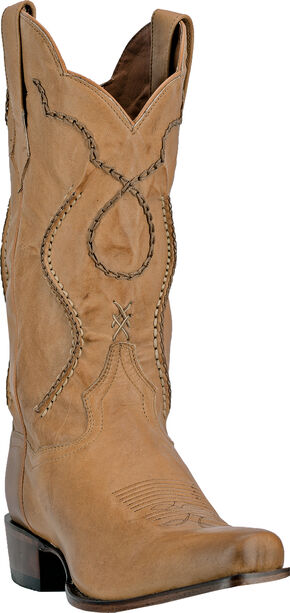 Dan Post Albany Laced Cowboy Boots - Medium Toe, Palomino, hi-res