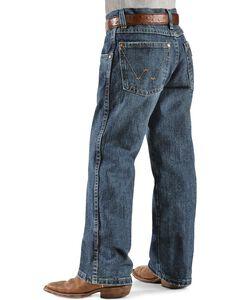 Wrangler Boys' Retro Relaxed Fit Straight Leg Jeans - 8-16, , hi-res