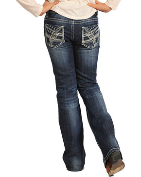 Rock & Roll Cowgirl Girls' Classic Jeans - Boot Cut , Indigo, hi-res